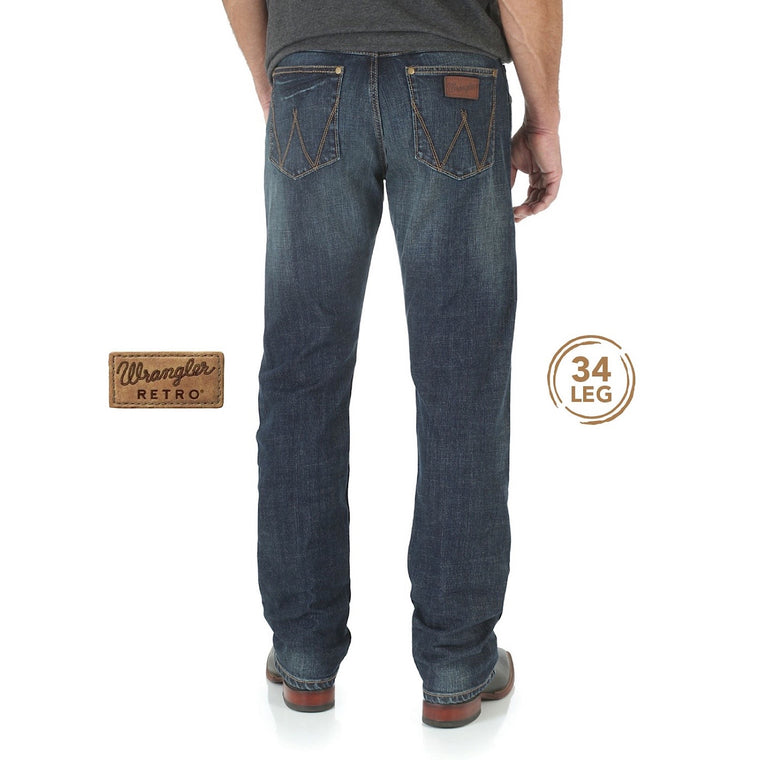 Wrangler Mens Retro Slim Straight Jean Bozeman