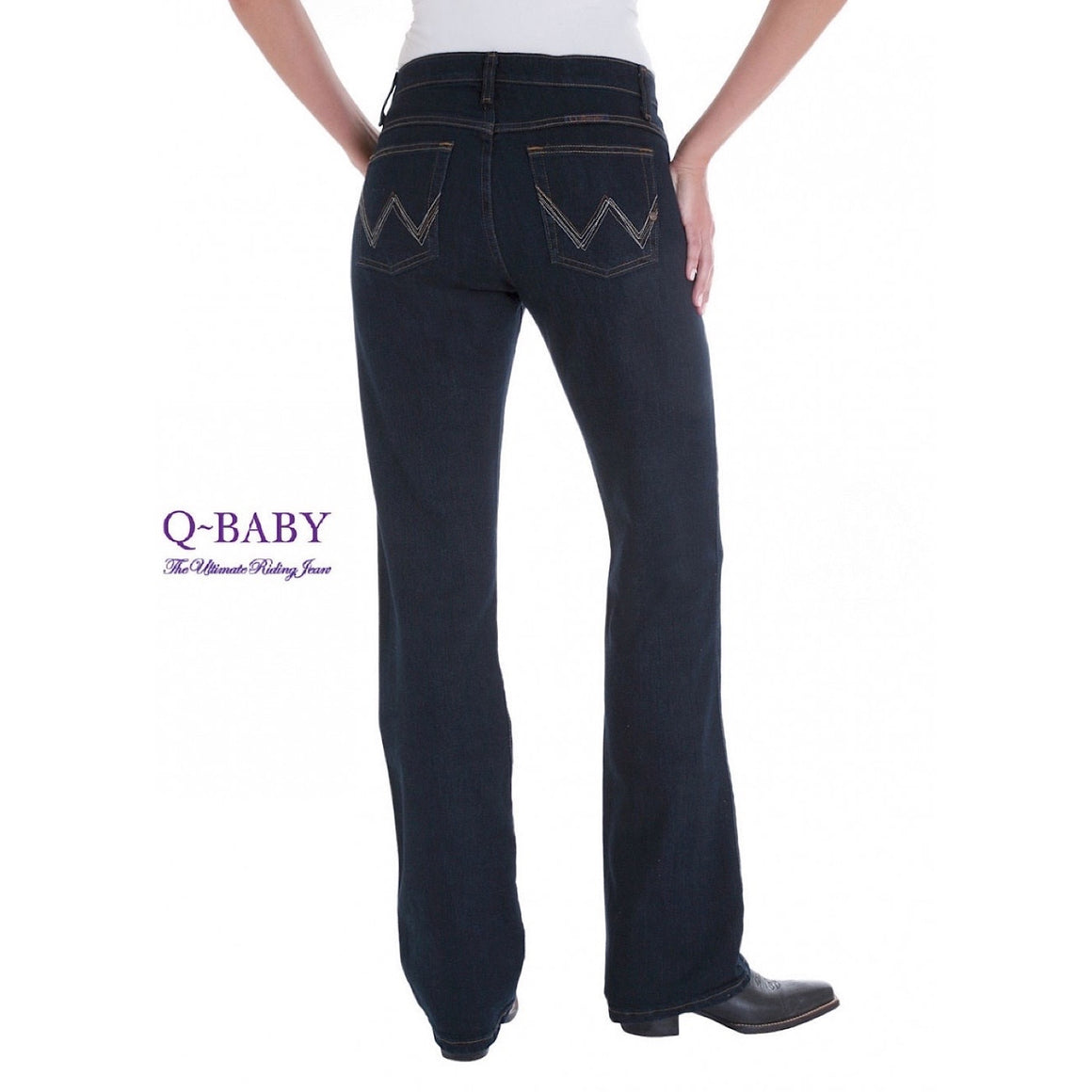 Ladies Q-Baby Ultimate Riding Jean, Dark Dynasty WRQ20DD