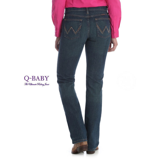 Wrangler Womens Q-Baby Ultimate Riding Jean Sits Below Waist, Tuff Buck WRQ20TB