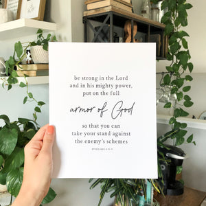 Armor of God Art Print
