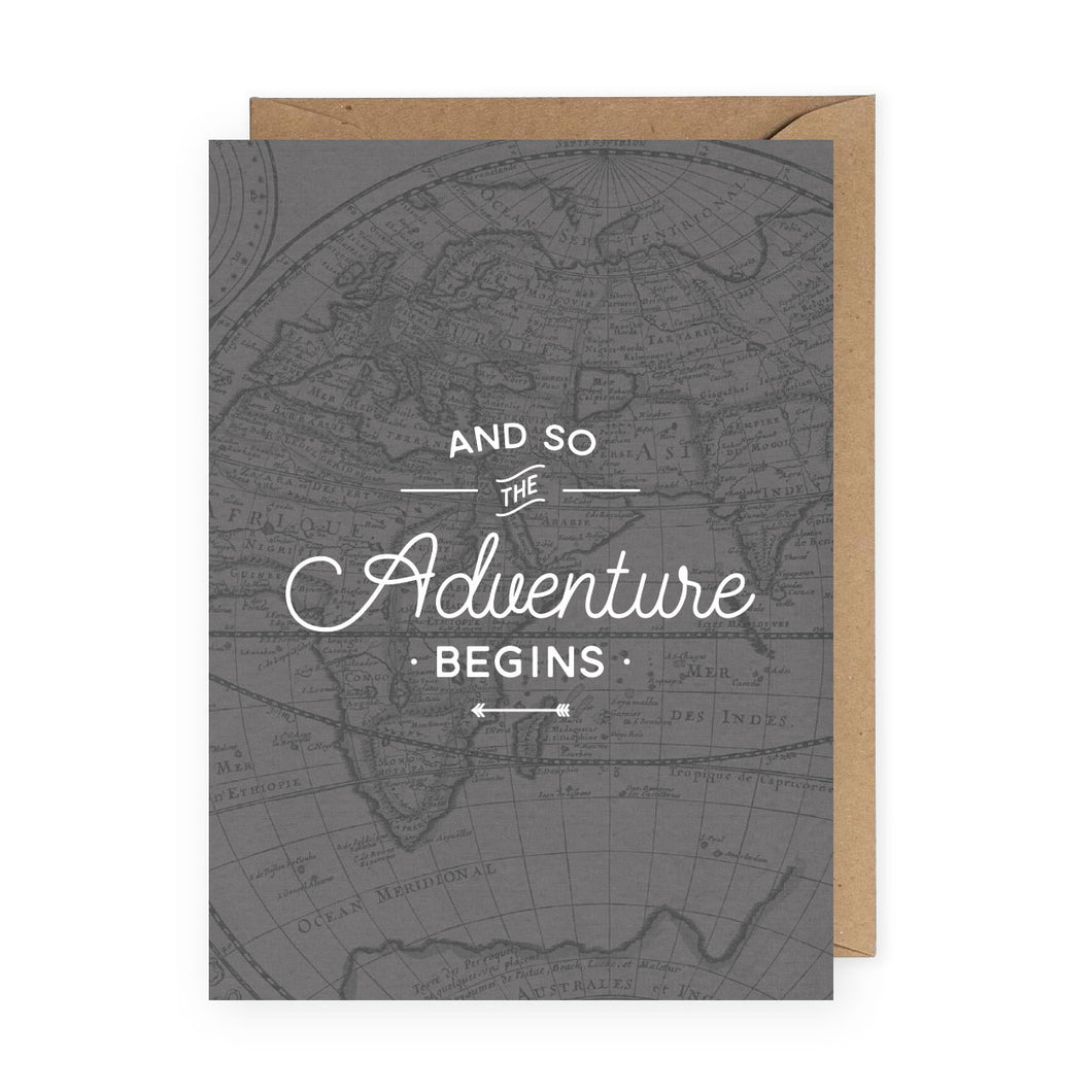 And So The Adventure Begins Greeting Card