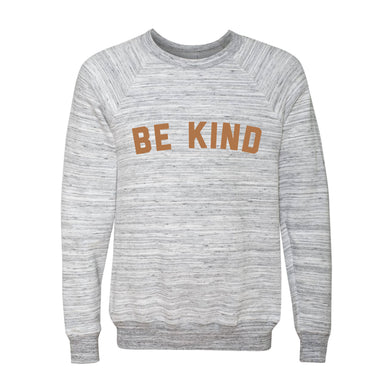 Be Kind Sweatshirt - Grey & White