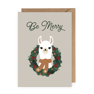 Be Merry Llama Card