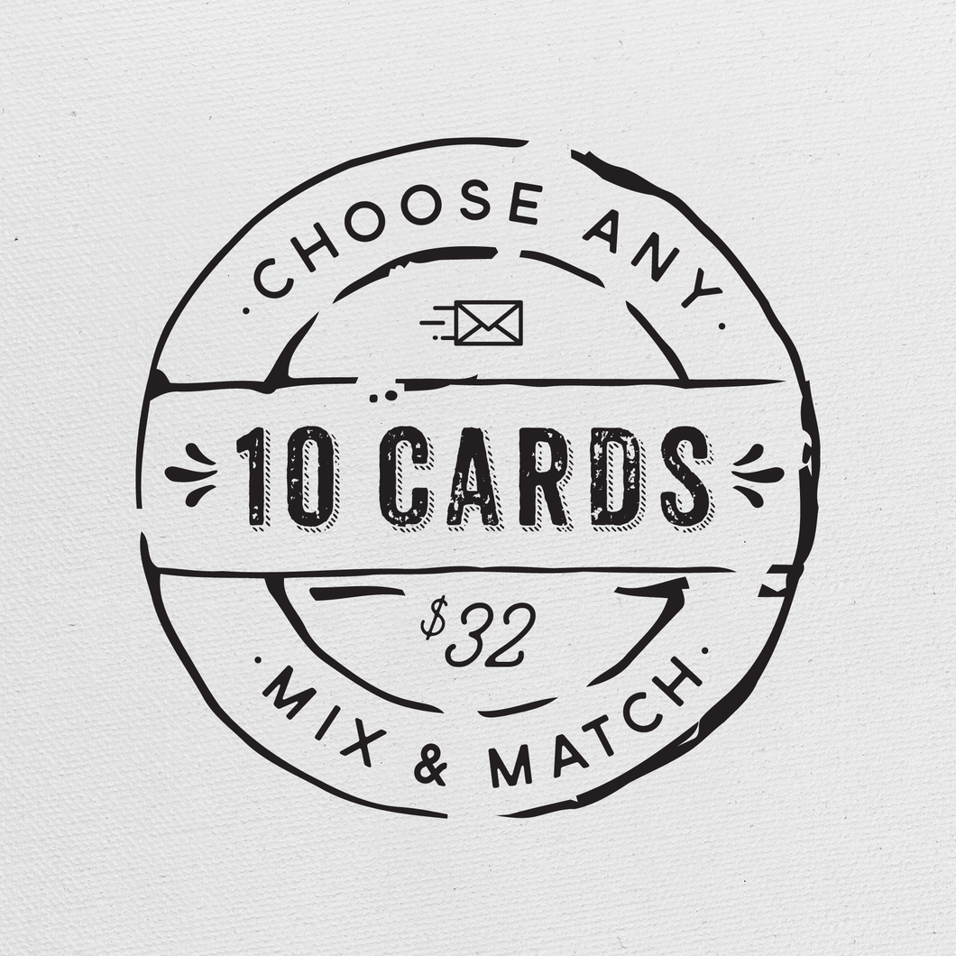 Choose Any 10 Greeting Cards