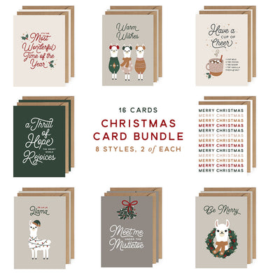 Christmas Card Bundle - Set of 16