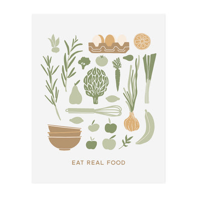 Eat Real Food Art Print