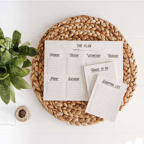 Organization Pack - Set of 3 Notepads