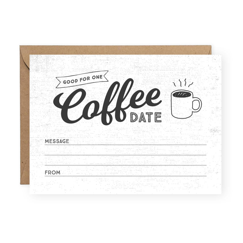 Coffee Date Greeting Card Friendship Card The Anastasia Co