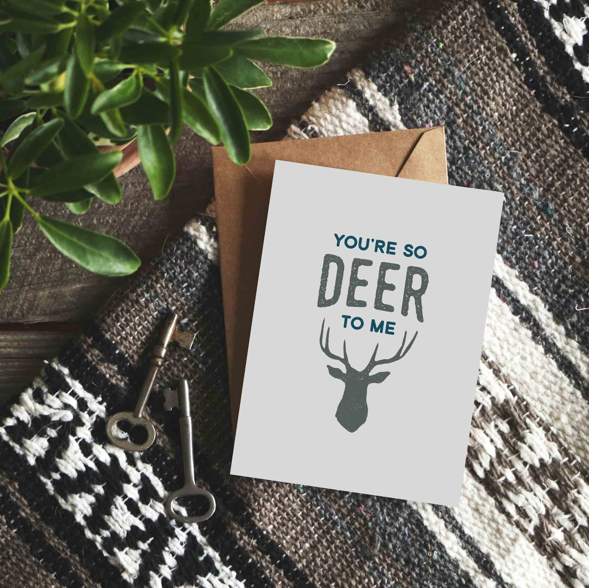 You're So Deer to Me - Punny Love Card – The Anastasia Co
