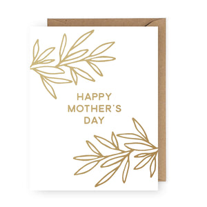 Happy Mother's Day Card - Gold Foil