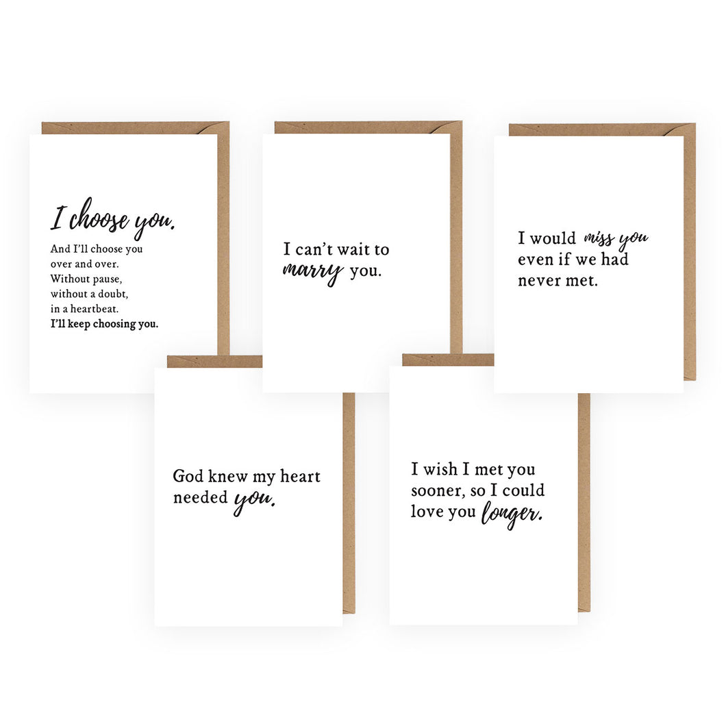 I Choose You Card Bundle - Set of 5