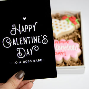 Galentine Card & Cookie Box Set