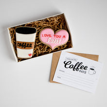 Coffee Date Card & Cookie Box Set