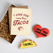 I Love You More Than Tacos Card & Cookie Box Set
