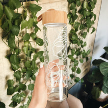 Leafy Glass Water Bottle