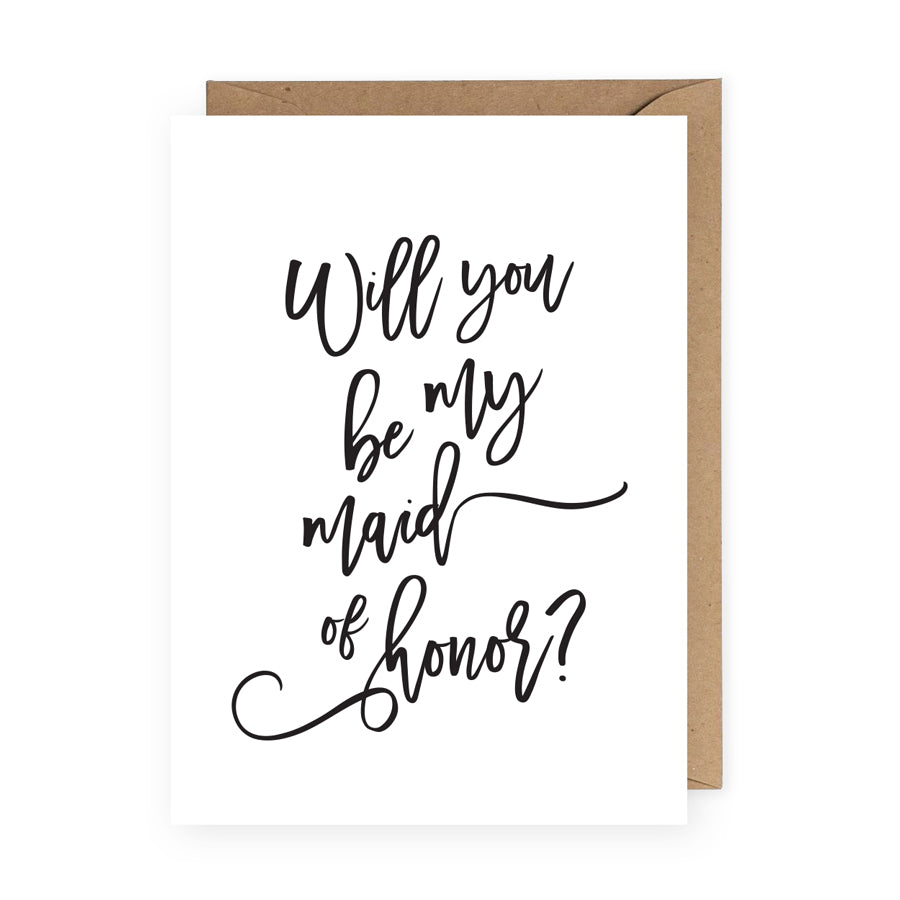 Will You Be My Maid of Honor Greeting Card