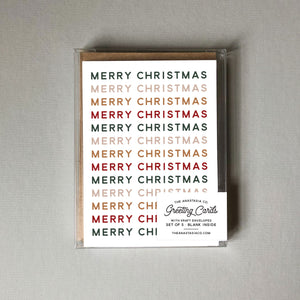 Merry Christmas Card - Box Set of 5