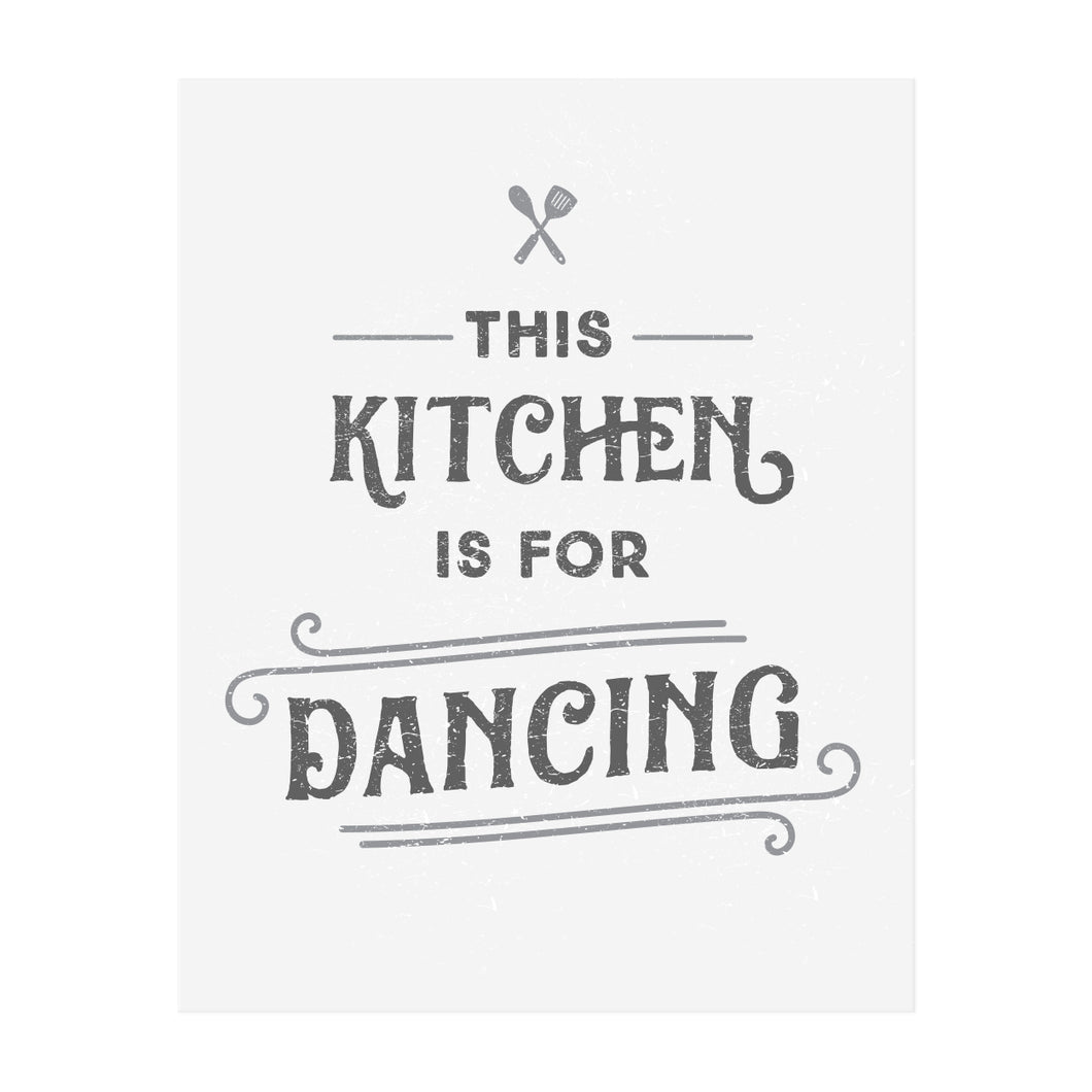 This Kitchen Is For Dancing Art Print The Anastasia Co