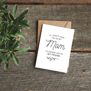 If I Didn't Have You as My Mom Greeting Card