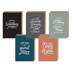 Mutual Weirdness Card Bundle - Set of 5