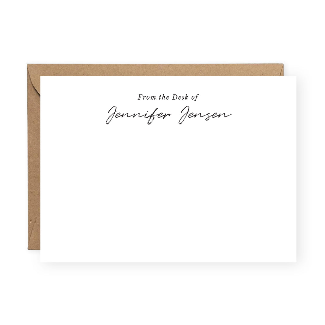 Personalized Stationery Notecards - Set of 10