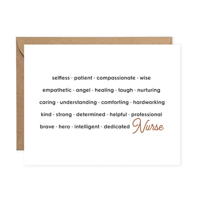 Nurse Appreciation Card