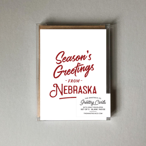 Season's Greetings from Nebraska - Box Set of 5