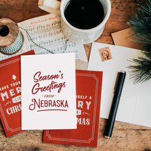 Season's Greetings From Nebraska Christmas Card