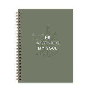 He Restores My Soul Journal