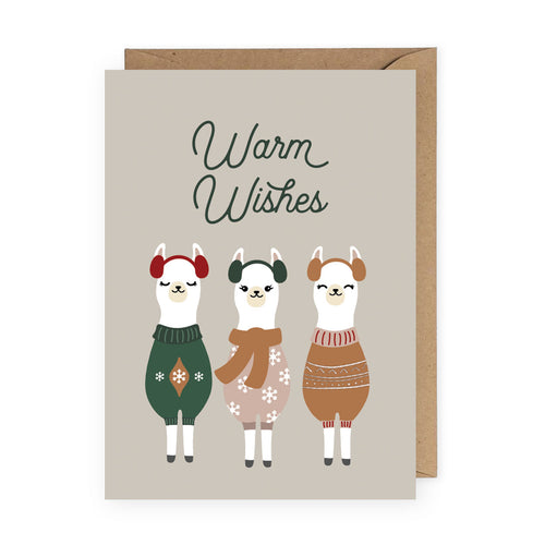 Warm Wishes Llamas Card