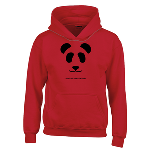 Big Panda Logo :: Youth (6-12yrs) Red Hoodie