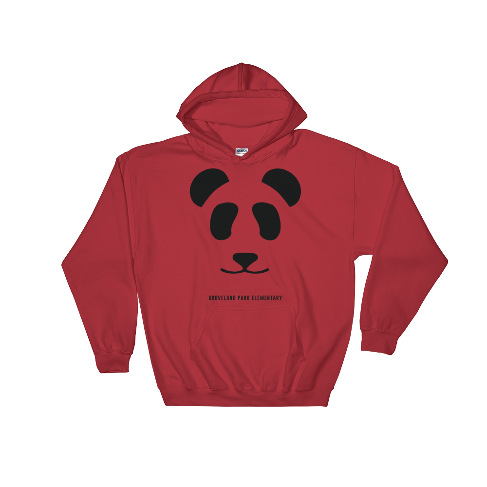 Big Panda Logo :: Adult Red Hoodie