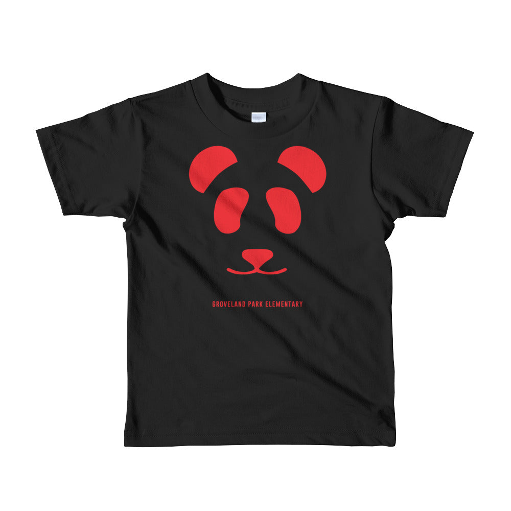 Big Panda Logo :: Youth (2-6yrs) Short Sleeve Black Tee