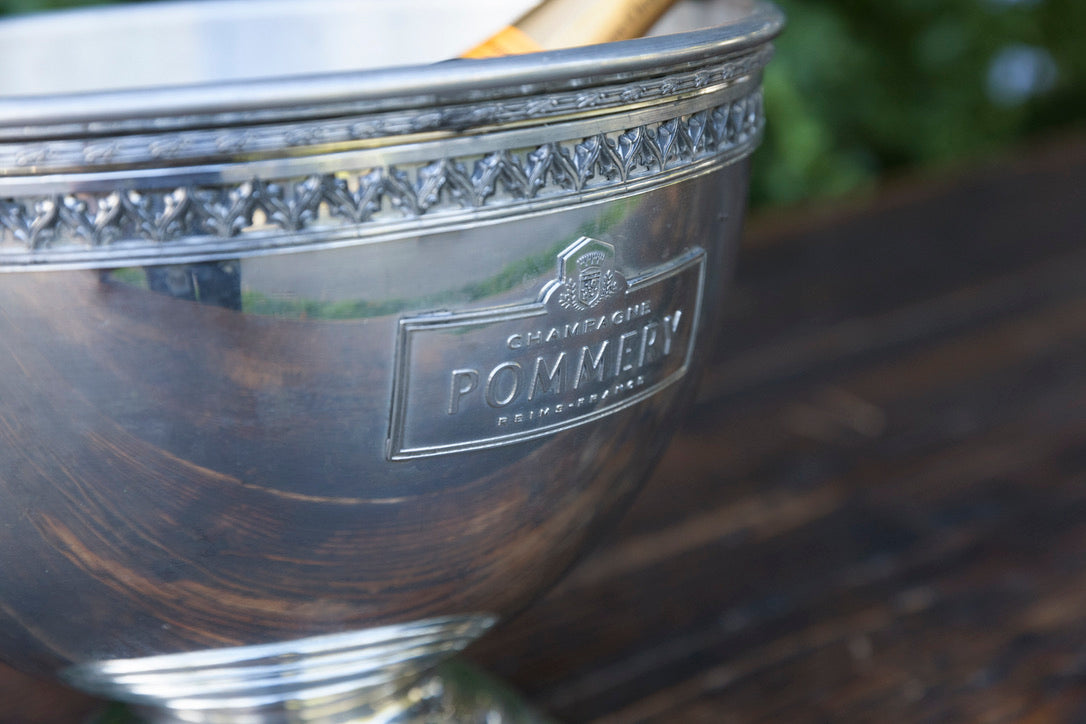 French Champagne Bowl & Plate Pommery