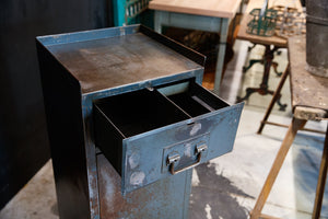 French 1930's Industrial Metal Cabinet