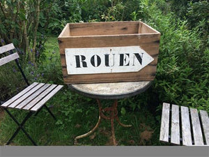 French Crate with Rouen Sign
