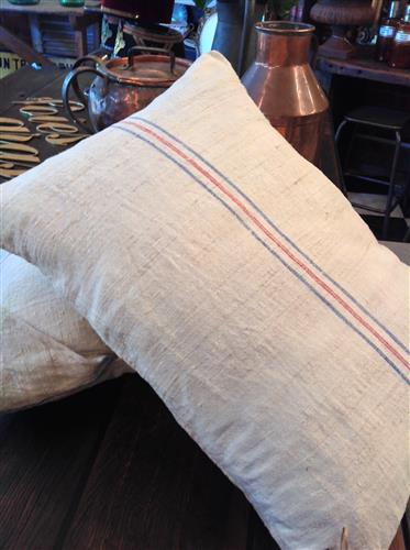 French Grain Sack Cushions
