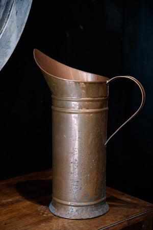 French Vintage Copper Pitchers