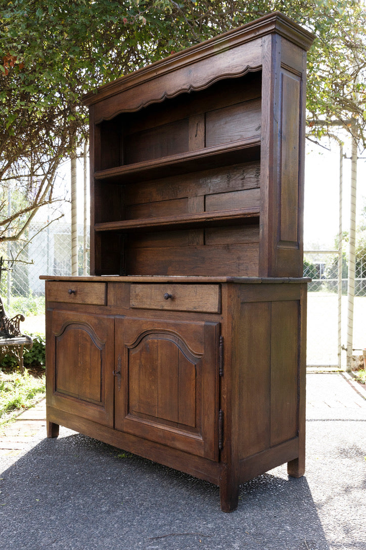 Beautiful 19th Century French Oak Kitchen Dresser