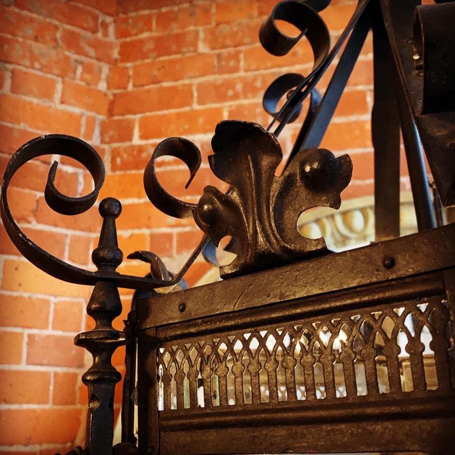 Beautiful French Wrought Iron Lantern