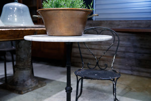 French Marble & Iron Cafe Table