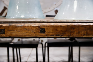 Industrial Steel French Channel Table