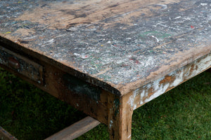 Large French Painters Dining Table