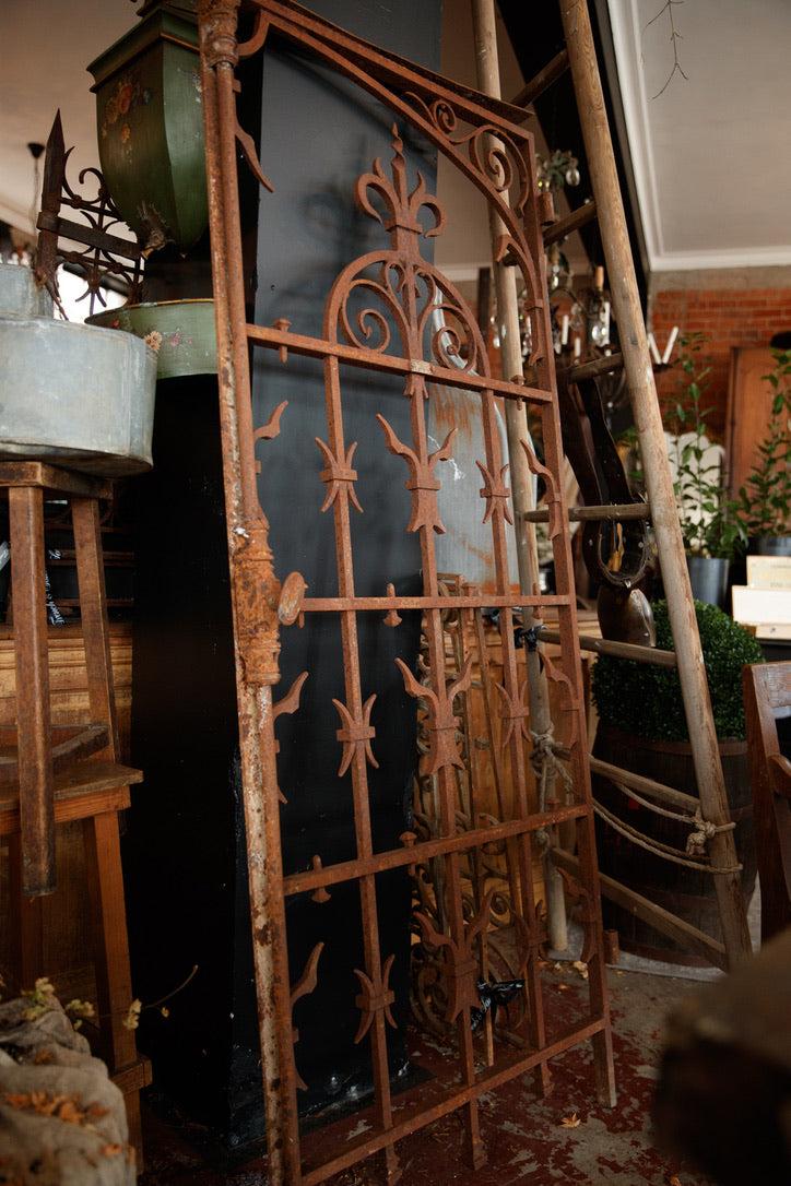 19th Century French Wrought Iron Gate