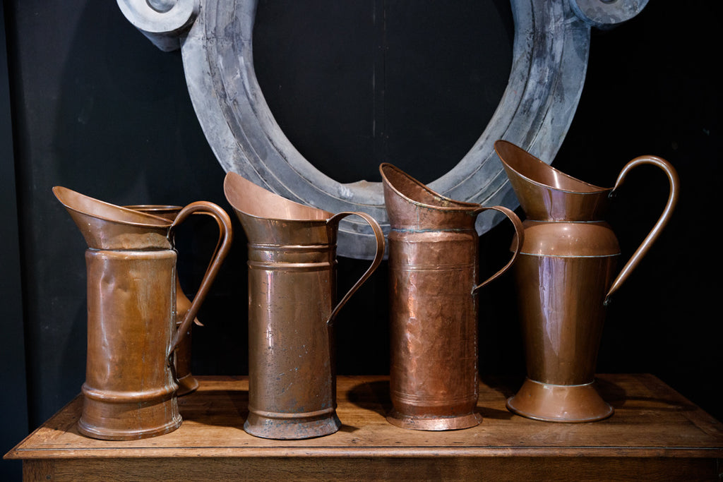 Vintage French Copper Pitchers