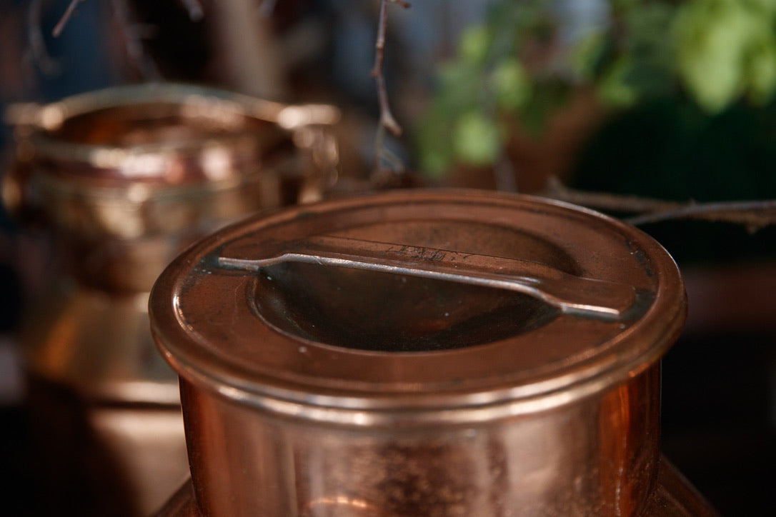 Vintage Copper Milk Churns