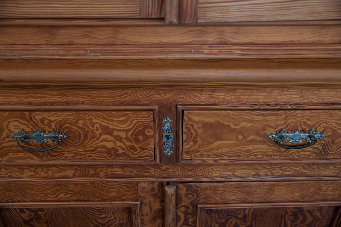 Vintage French Pine Kitchen Cupboard