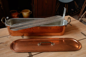 XL French Copper Fish Poacher
