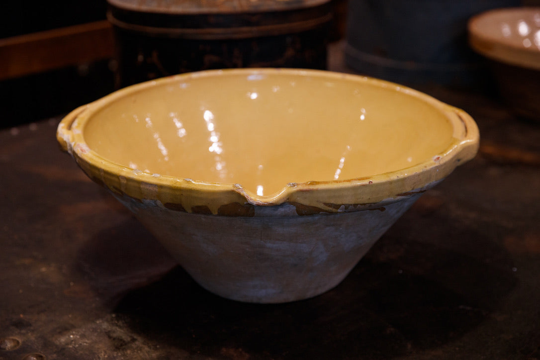French Provence Confit Bowl - Yellow Glaze