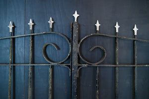 French Wrought Iron Entrance Gates - Black & White